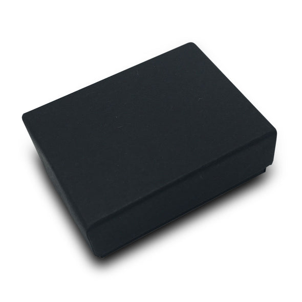 "1 7/8""Wx1 1/4""Dx 5/8""H Matte Black Cotton Filled Paper Box"