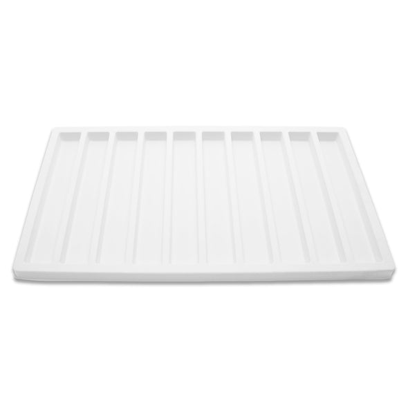 10 Column White Compartment Tray Insert