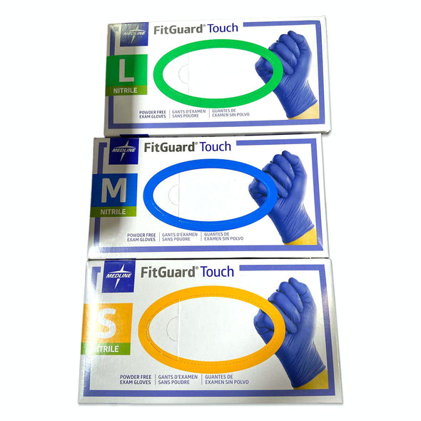 Medline FitGuard Touch Disposable Nitrile Exam Gloves