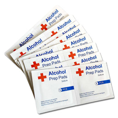 100 Pack Sterile 75% Alcohol Prep Pad Wipes