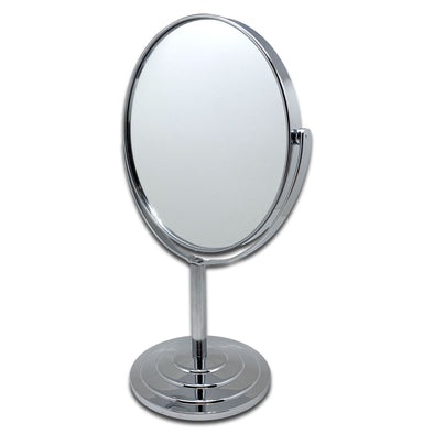 "12 1/2"" Tall Double Sided Mirror with 4X Magnification"