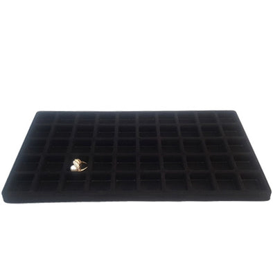 50 Compartments Black Flocked Tray Insert