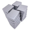 "2 1/8"" x 1 5/8"" x 3/4"" Pearl Gray Cotton Filled Paper Box"