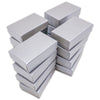 "2 5/8"" x 1 5/8"" x 1"" Pearl Gray Cotton Filled Paper Box"