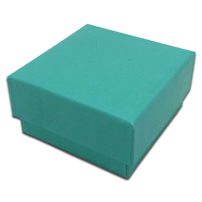"2 5/8"" x 2 5/8"" Teal Combination Cardboard Jewelry Boxes"