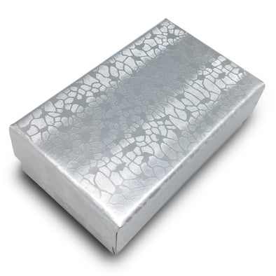"2 5/8""Wx 1 1/2""Dx 1""H Silver Cotton Filled Box"