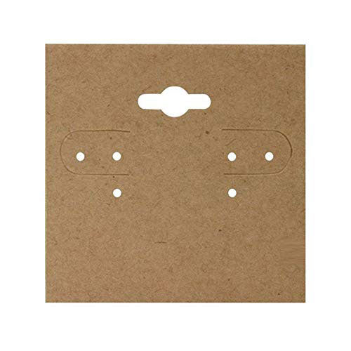"2"" x 2"" Kraft Paper Hanging Earring Cards"