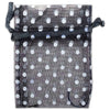 "2"" x 3"" Black with White Polka Dot Organza Drawstring Pouch Gift Bags"