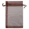 "6"" x 8"" Brown Organza Drawstring Pouches"