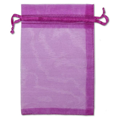 Hot Pink Organza Drawstring Pouches