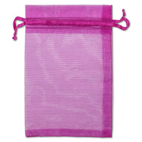 "4"" x 6"" Hot Pink Organza Drawstring Pouches"