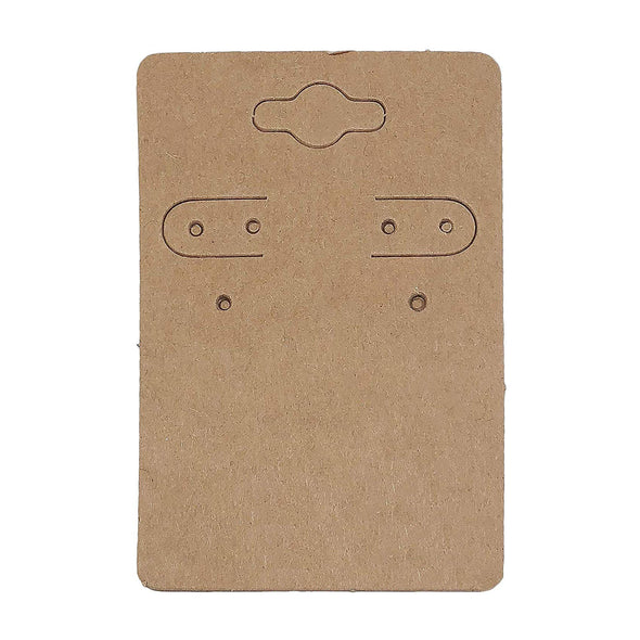 "2"" x 3"" Kraft Paper Earring Cards"