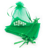 "2"" x 3"" Light Green Organza Drawstring Pouches"