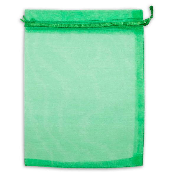 "4"" x 6"" Light Green Organza Drawstring Pouches"