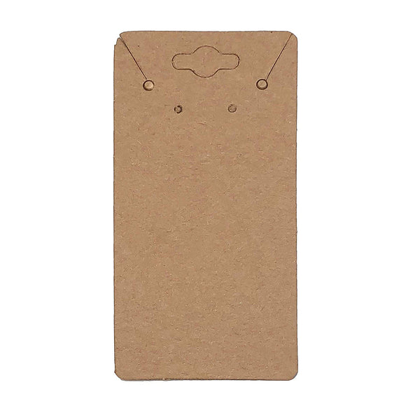 "2"" x 4"" Kraft Paper Necklace and Earring Combo Card"