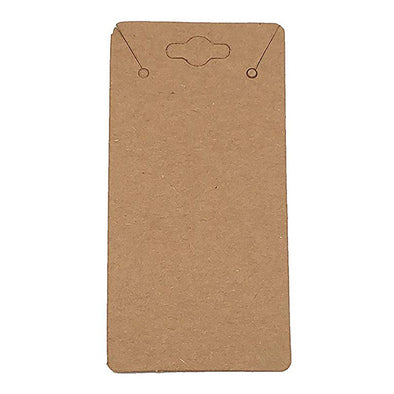 "2"" x 4"" Kraft Paper Necklace Card"