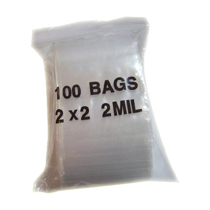 "2'x2""H Clear Ziplock Plastic Bag"