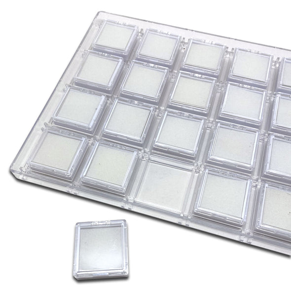 24 Clear Gem Boxes with Acrylic Case
