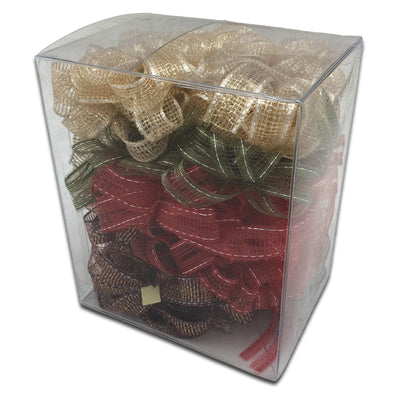 "25 Pack of 3"" Assorted Color Ribbon Bows"