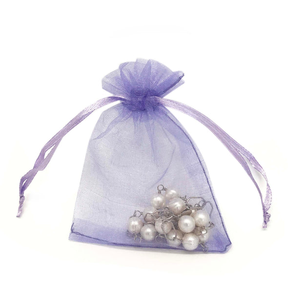 "2""x3"" Light Purple Organza Drawstring Pouches"