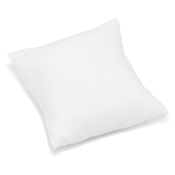 "3 1/2"" x 3 1/2"" White Leatherette Pillow Jewelry Display for Bracelets or Watches"
