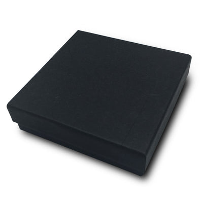 "3 1/2W""x 3 1/2""D X 1""H Black Cotton Filled Paper Box"