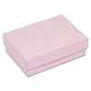 "3 1/4"" x 2 1/4"" x 1"" Pink Cotton Filled Paper Box"