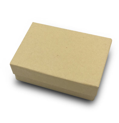 "3 1/4"" x2 1/4""x 1""H Kraft Cotton Filled Paper Box"
