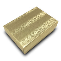 "3 1/4""WX2 1/4""DX1""H Gold Foil Cotton Filled Paper Box"
