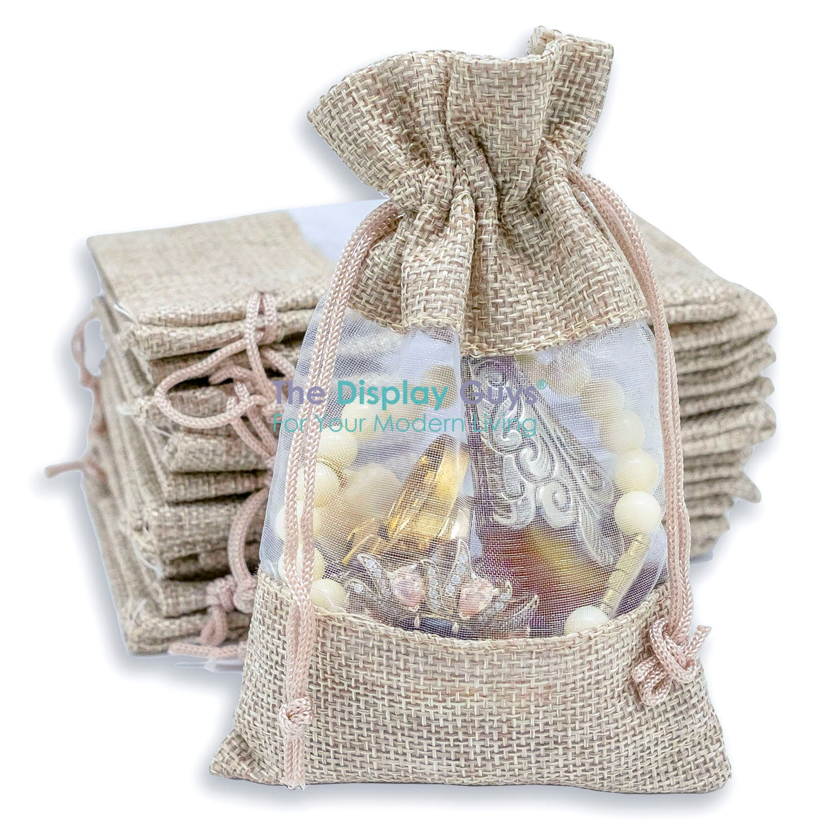 """100 Jewelry Shopping Tote Gift Bags Display Silver 3.5/"""""""