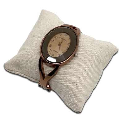 "3"" x 3"" Linen Pillow Jewelry Display for Bracelet or Watch"