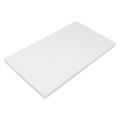 36 Ring White Leatherette Foam Standard Jewelry Tray Insert
