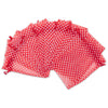 "4"" x 6"" Red with White Polka Dot Organza Drawstring Pouch Gift Bags"