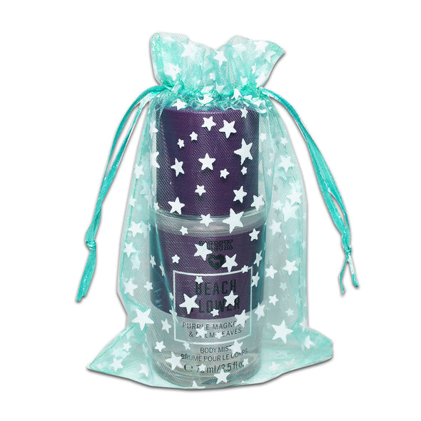 "4"" x 6"" Teal with White Star Organza Drawstring Pouch Gift Bags"