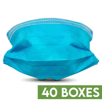 Wholesale 40 Boxes of Disposable 3-Layer Breathable Filter Face Masks