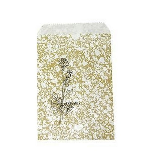 "8.5x11"" Gold Paper Gift Jewelry Merchandise Rose Bag"