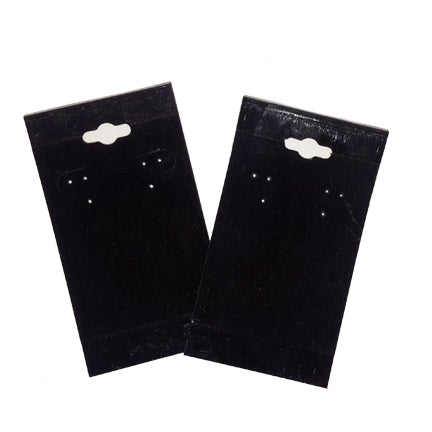 "2"" x 4"" Black Velvet Hanging Earring Card"