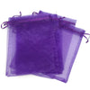 "4""x6"" Dark Purple Organza Drawstring Pouches"