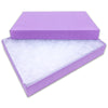 "5 7/16"" x 3 15/16"" x 1"" Matte Purple Cotton Filled Paper Box"