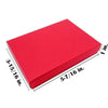 "5 7/16"" x 3 15/16"" x 1"" Matte Red Cotton Filled Paper Box"