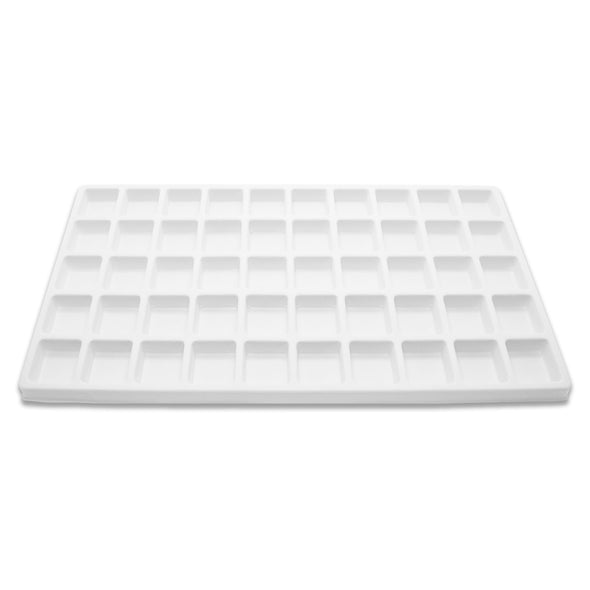 50 Compartment White Flocked Tray Insert