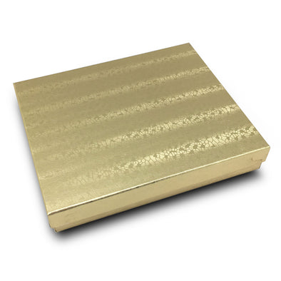 "6 1/8""x5 1/8""x1 3/8""H Gold Cotton Filled Box"