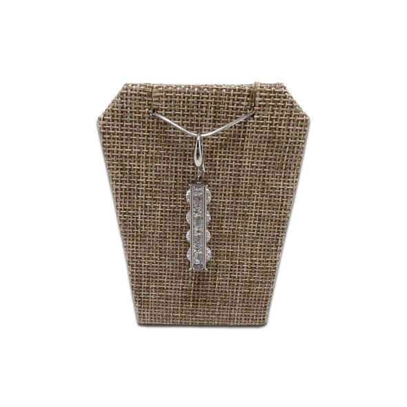 "6 Pack of 2 1/2"" x 3 1/4"" Beige Burlap Earring/Pendant Displays"