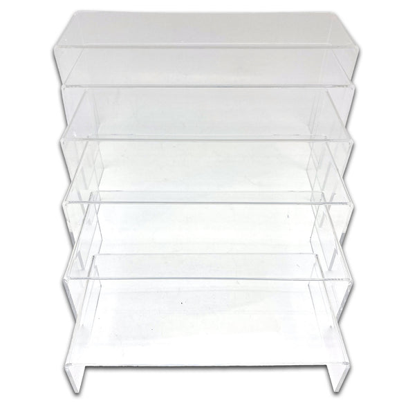 6 Piece Clear Acrylic Jewelry Display Riser Set