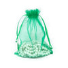 "6"" x 8"" Light Green Organza Drawstring Pouches"