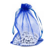 "6"" x 8"" Royal Blue Organza Drawstring Pouches"