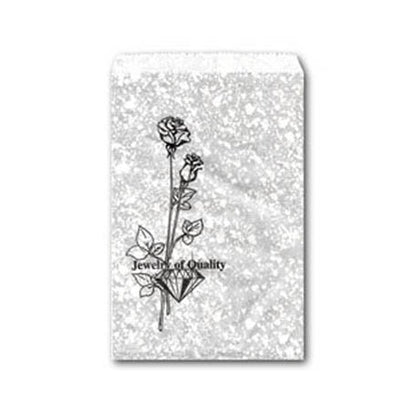 "8x11"" Silver Paper Gift Bag"