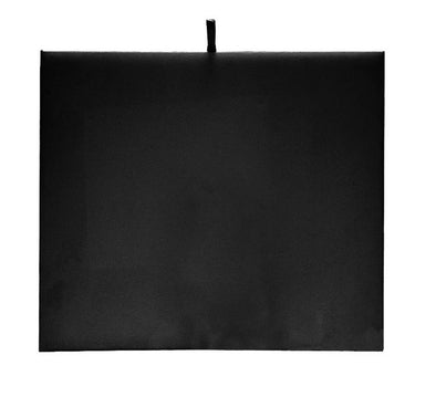 "7 1/4"" x 8 1/4"" Black Velvet Padded Display Pad"