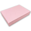 "7 1/8"" x 5 1/8"" Pink Cotton Filled Paper Box"