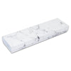 "8 1/16"" x 2 1/4"" x 1 3/8"" Marble White Cotton Filled Box"